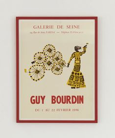 Guy Bourdin Exhibition Poster 1956 – hellethygesen.com Guy Bourdin, Anton, Exhibition Poster, Man Ray, Red Paint, Poster Making, Paris, Painting Frames, Guys