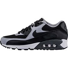 59d62bb21531 Nike Air Max 90 Essential Mens 537384-053 Black Wolf Grey Running Shoes  Size 11