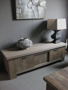 TV Dressoir Eiken Rustiek Furniture, Home Accessories, Simple Decor, Cozy House, Furniture Decor, Living Spaces, House Styles, Interior Design, Rustic Interiors