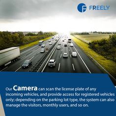 Our Camera can scan the license plate of any incoming vehicles, and provide access for registered vehicles only; depending on the parking lot type, the system can also manage the visitors, monthly users, and so on. Parking Solutions, Smart City, Deep Learning, Access Control, Parking Lot, The Visitors, Plate, Country Roads, Technology