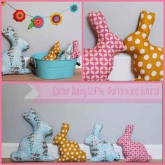 Tutorial - Make your own Easter Bunny Softie - Handmade Kids Rabbit Crafts, Bunny Crafts, Easter Crafts For Kids, Sewing Projects For Kids, Sewing For Kids, Sewing Toys, Sewing Crafts, Softie Pattern, Easter Activities