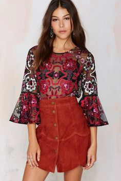 Nasty Gal Lola Embroidered Blouse - Night Fever | I'm With the Band | Night Fever | I'm With the Band | Shirts + Blouses | Tops