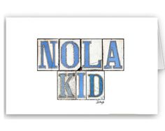 Card Set  New Orleans Graphics: Nola Tiles by BethDaiglePhotograph