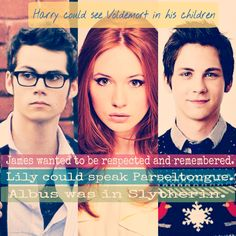 Harry Potter Next Generation Facts and Confessions-------omg these 3 were perfect choices