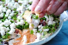 Greek 7-Layer Dip - #gameday Three Many Cooks