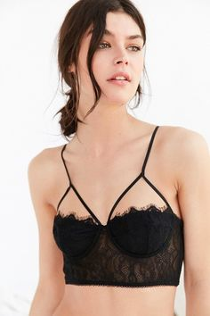 5b80e1e06a1ab Out From Under Lauren Eyelash Lace Underwire Bra - Urban Outfitters