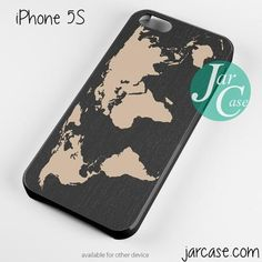 Black Wood Worlds Map Phone case for iPhone 4/4s/5/5c/5s/6/6 plus