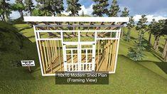 10x16 Modern Shed Plan Framing View...http://www.DIY-Plans.com