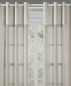 Take a look at this Beige Reign Curtain Panel - Set of Two by Chic Home Design…