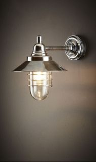 Clark Wall Lamp Antique Silver