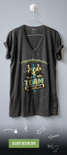 Team Bräutigam T-Shirt zum Junggesellenabschied bedrucken lassen.