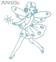 fairy embroidery - for if Katie has a girl