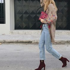 Ritamargari in Yiorgos Koulasidis dress Mom Jeans, Pants, Dresses, Fashion, Gowns, Moda, Trousers, Fashion Styles, Women Pants