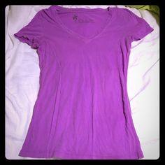 Purple v-neck tshirt Basic bright purple v-neck tshirt Nollie Tops Tees - Short Sleeve