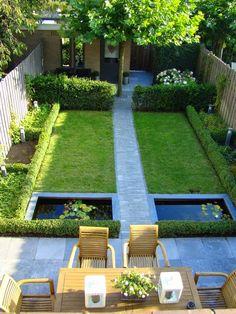 Moden small garden.