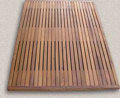 shower teak grille for the drain Teak Bathroom, Small Bathroom, Shower Wood Floor, Japanese Bathroom, Teak Flooring, Front Gate Design, Boat Interior, Upstairs Bathrooms, Wood Slats