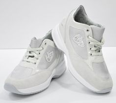 Sneakers Blu Byblos Nylon Vernice Grigio