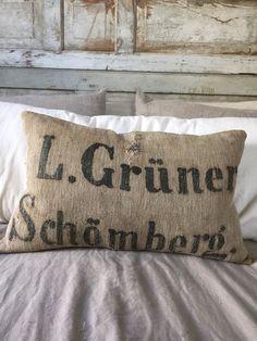 Antique Grain Sack Pillow