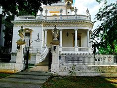 FRENCH STYLE MANSION - BUILT 1908 - LOCATED PASEO MONTEJO - MERIDA YUCATAN MEXICO - CURRENTLY A TELEPHONE COMPANY