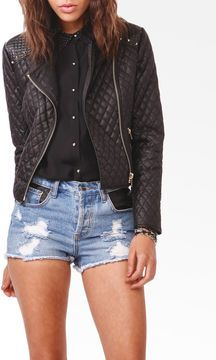 FOREVER 21 Quilted Spiked Moto Jacket at POPSUGAR Shopping