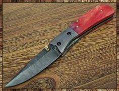 1497 BSK Custom Handmade Damascus Folding Knife | eBay