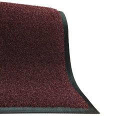 Brush Hog Floor Mat: Burgundy Brush - 6' x 8' - Cleated Backing by Andersen. $320.20. Won't fade in sunlight. Flat rubber border. 100% premium rubber backing will not crack or curl. Certified slip resistant by the National Floor Safety Institute. Turf pile fabric construction filters durt and moisture away from the mat surface. This tough restaurant floor mat has a 100% solution-dyed coarse nylon fiber surface, designed to aggressively scrape harmful dirt and moist...