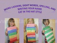 Dr. Seuss Cat in the Hat activity to help make learning to read fun.  Different modifications for different learners highlighted.  More resources can be found at http://www.sightandsoundreading.com #homeschool #beginningreading #modifications