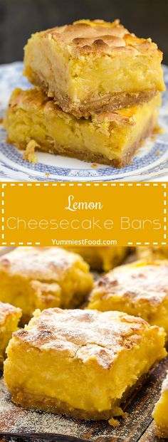 Lemon Cheesecake Bars – creamy, light and refreshing cheesecake bars with lemon juice. One of the most delicious desserts ever, perfect for spring and summer! Lemon Cheesecake Bars – a must make!