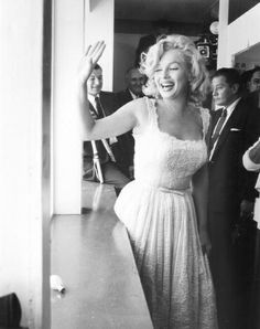 Marilyn Monroe at the opening of the Rockefeller Center Sidewalk Club 2nd July 1957
