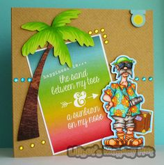 I am willing the Sun to come out by creating this card! I am ready for Summer & the veg plot is def ready for Summer - enough of the rain al...