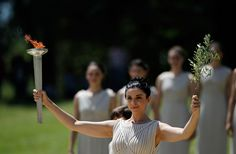 Lighting the 2012 Olympic Flame - Ancient Olympia - GREECE!!!!!!!