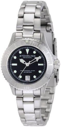 Stuhrling Original Women's 1162.12111 Watersports Regatta Sailor Swiss Made Quartz Divers Date Stainless Steel Watch
