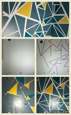 """Résultat de recherche d'images pour """"peinture geometrique mur"""""""