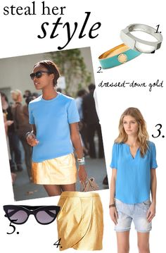 Steal Her Style: Dressed-Down Gold   theglitterguide.com