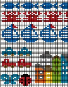 Best 10 Mustrilaegas: A Kudumine / Knitting – SkillOfKing. Fair Isle Knitting Patterns, Fair Isle Pattern, Knitting Charts, Knitting Designs, Knitting Projects, Baby Knitting, Beaded Cross Stitch, Cross Stitch Borders, Cross Stitch Embroidery