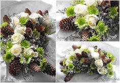 Winter flower arrangement by SaraCreations, via Flickr