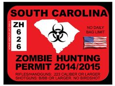 South Carolina Zombie Hunting Permit