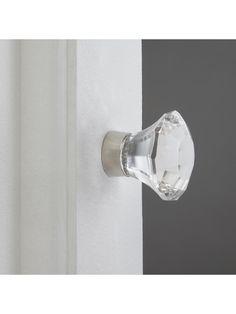 Buy John Lewis & Partners Faceted Glass Cupboard Knob, Small from our Cupboard Door Knobs & Handles range at John Lewis & Partners. Knobs And Handles, Door Handles, Cupboard Door Knobs, Bathroom Installation, Faceted Glass, John Lewis, Sconces, Wall Lights, Door Knobs