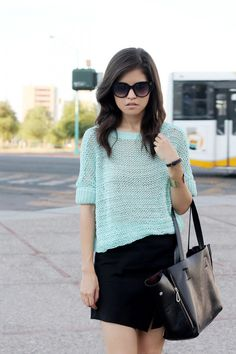 Mint Knit Jumper  http://re.mu/fakeleather/product/19501