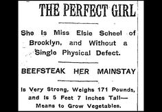 Photo: 1912's Perfect Woman Was From Brooklyn, Weighed 171 Lbs, Had Pear-Shaped Body: Gothamist