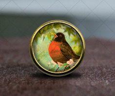 Bird / Vintage Bronze Dresser knobs cabinet Dresser by GibbsHouse