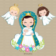 Virgen de guadalupe Mother Mary clipart Virgencitas Virgin Saint Tattoo, Baptism Centerpieces, First Holy Communion, Blessed Mother, Mother Mary, Stationery Design, Kirchen, Virgin Mary, Clipart