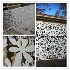 Grande decoração da parede da caixa leve da oxidação da borboleta do corte do laser, tela de segurança do metal do corte do laser, lados bonitos Gar-006 do engranzamento do caso de exposição