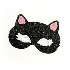 Kitty Mask Glitter Cat Costume Kitten Dress Up Little Blue Olive ($20) ❤ liked on Polyvore featuring accessories, hair accessories, black, headbands & turbans, cat hairband, head wrap headband, headband turban, cat headband and head wrap turban