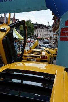 Lamborghinis at www.fieberbrunn-classic-cars.at, photo by lamborghini-drivers.at
