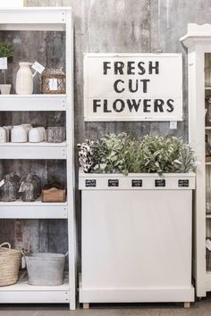 A New Space for Love Grows Wild Market Retail Store Design, Retail Shop, Farmers Market Display, Window Greenhouse, Antique French Doors, Store Displays, Retail Displays, Candle Store, Kitchen Display