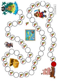 Spielplan Piraten Montessori Trays, Printable Mazes, Holiday Club, Craft Projects For Kids, Pirate Theme, Activity Sheets, Fun Math, Toddler Activities, Lilo And Stitch