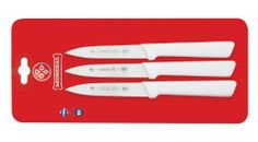 Mundial SCW0547-4 4-Inch Paring Knife Collection, Set of 3, White by Mundial. Save 21 Off!. $15.44. 4-inch blades. Set of three spear point paring Knives. Handle contains built in anti microbial protection. Spear point paring three pack. NSF Certified. Professional chefs are the most demanding users of kitchen tools.  They count on products that enable them to do their best-day in and day out-with speed, precision and ease.  That's why chefs all around the world have made Mundial their top…