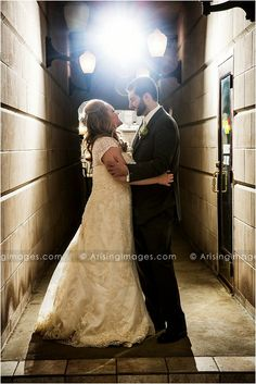 Urban Michigan Wedding Photography in an alley. So cool! #arisingimages #wedding #photography #alley