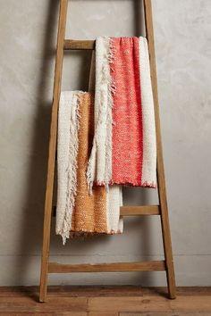 WE ♥ THIS!  ----------------------------- Original Pin Caption: Blanket Stitch Throw - #anthrofave
